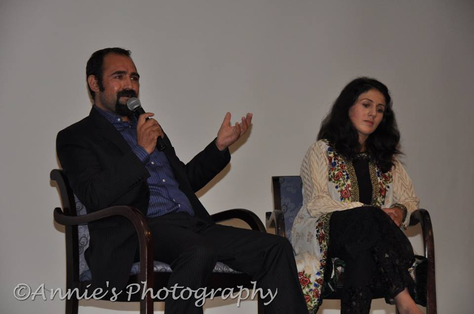 Samina and Mirza answered the audience's questions following a screening of their documentary, Pomona College, Oct. 5